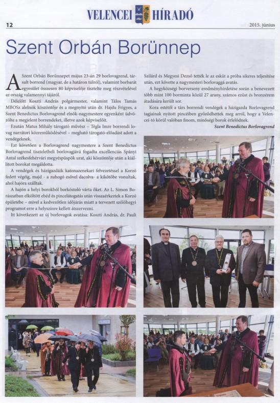 Szent Orbán Ünnep (Velencei híradó 2015. június 12.)