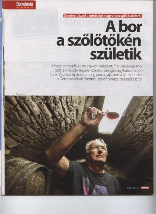 Szentesi József (Demokrata 2014. július 9.)